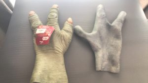 Yoda and Alien hands for Ewok (back view)