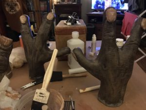 Both hands after drybrushing