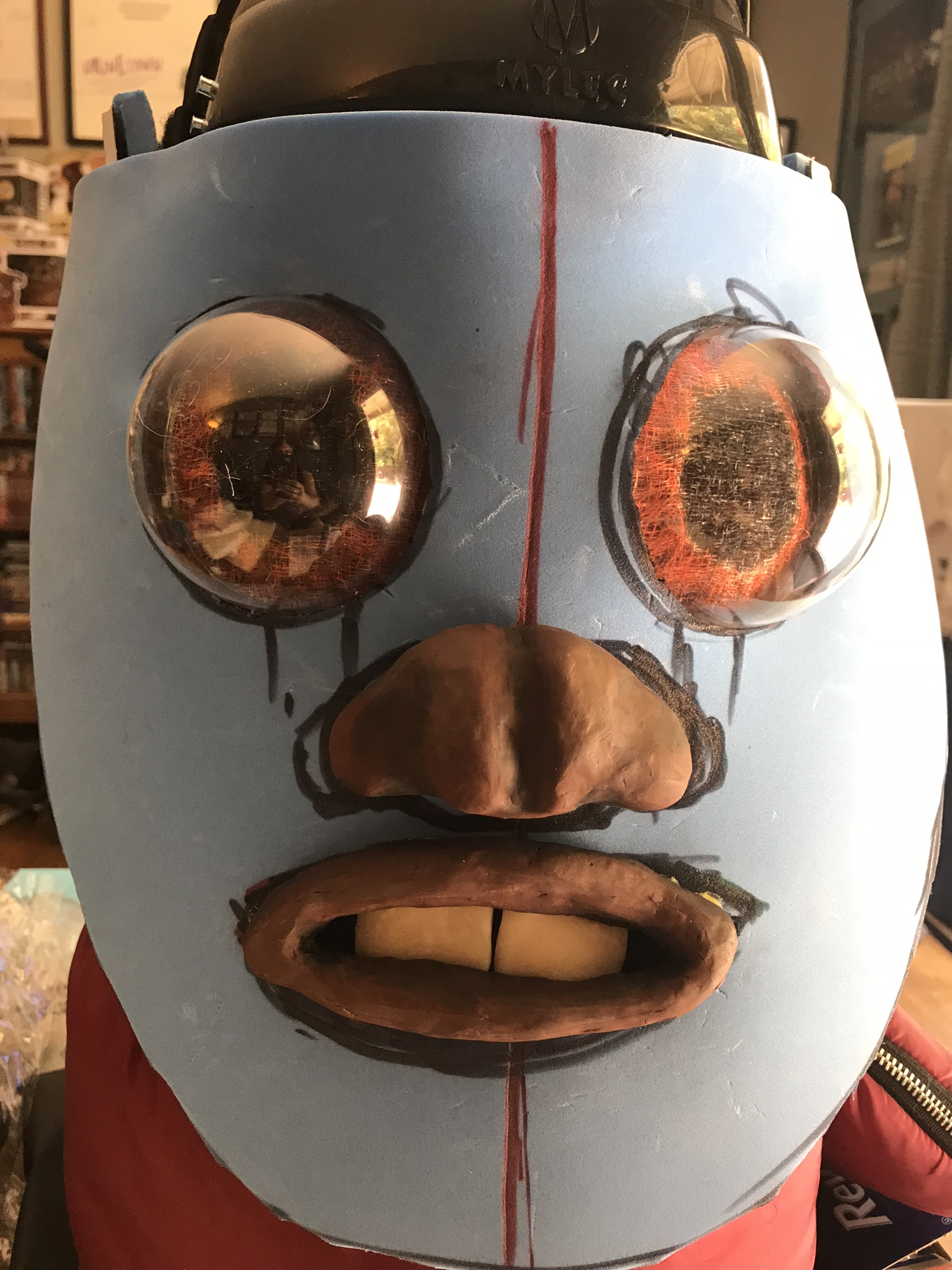 Ewok mask with nose and mouth attached