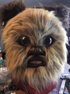 Ewok Mask with full fur and forehead reduction