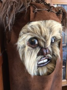 Ewok mask with adjustments (side view)