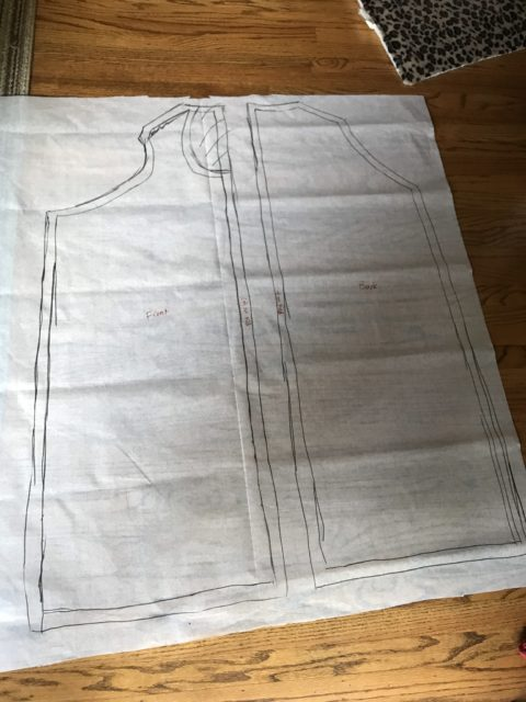 Ewok Hoop Vest pattern created from taking apart mockup
